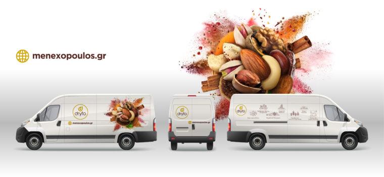 Dryfo Menexopoulos Bros SA key visual photo illustration applied on corporate van
