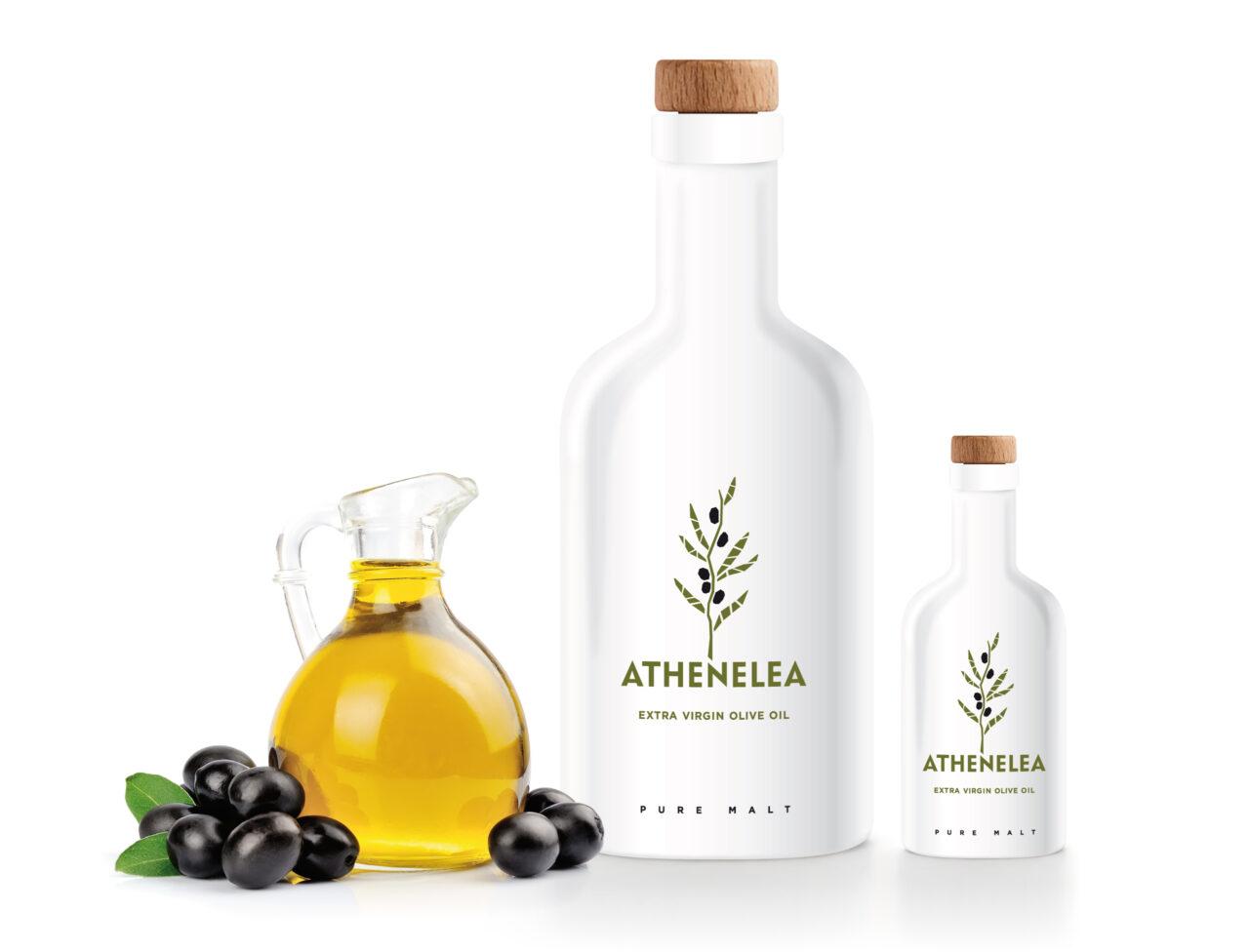 Athenelea extra virgin olive oil branding design