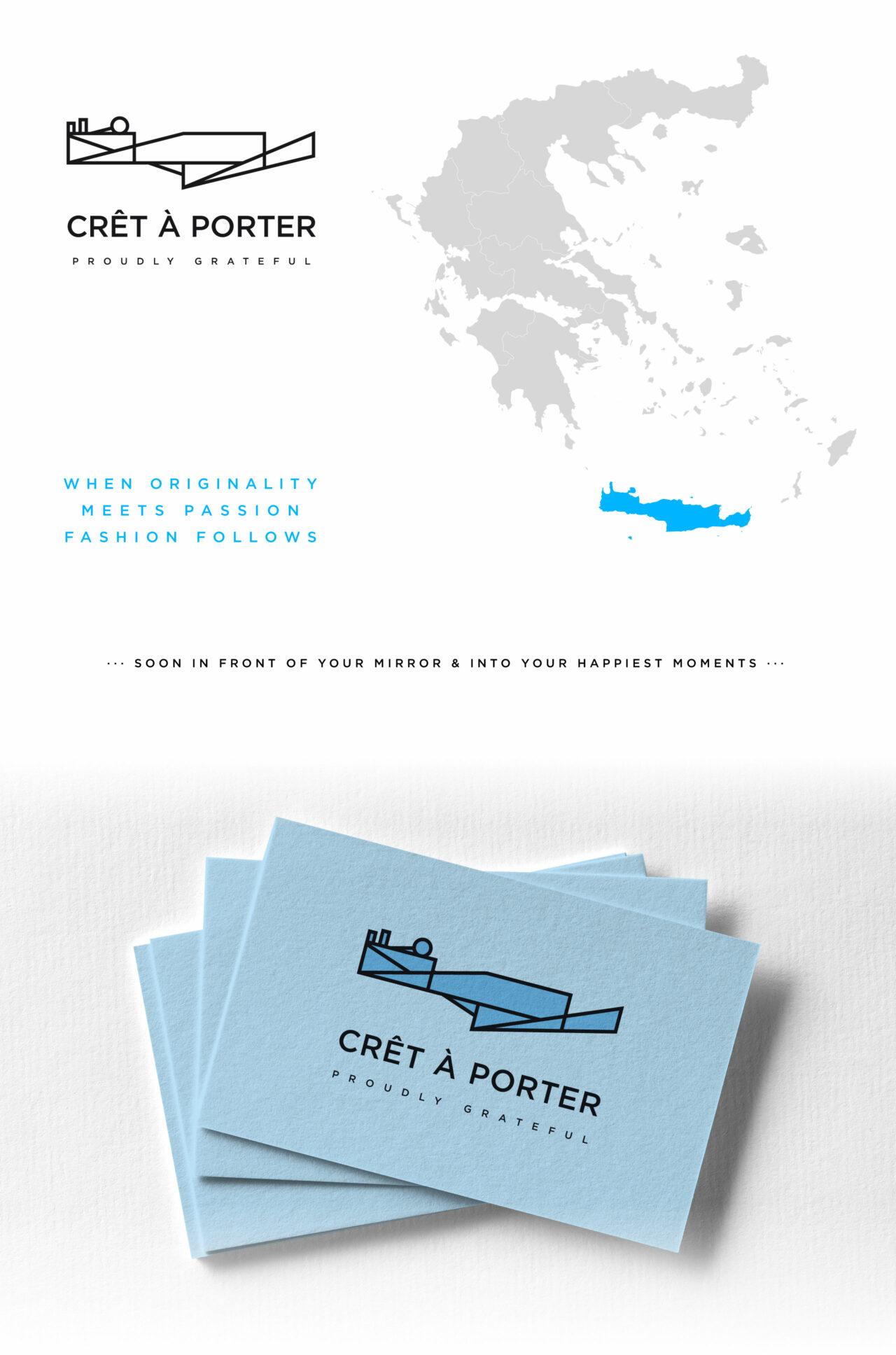 Crêt à porter Cretan apparel concept branding design by Plus Gravity