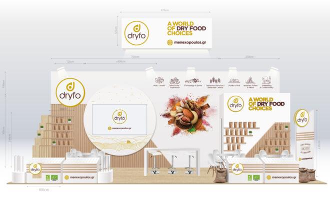 Tradeshow booth design for Dryfo Menexopoulos Bros SA Food Expo 2020