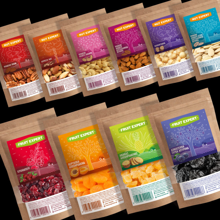 Dry food labels design for Dryfo Menexopoulos S.A. by Plus Gravity