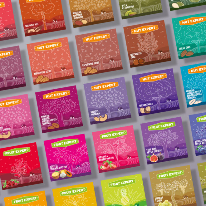 Dryfo custom line illustration colorful labels design by Plus Gravity