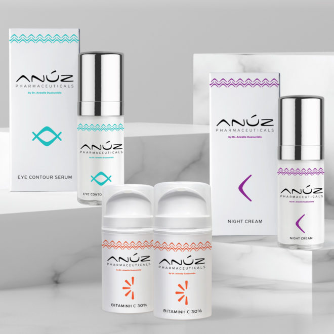 Branding system and packaging design for ANUZ pharmaceuticals