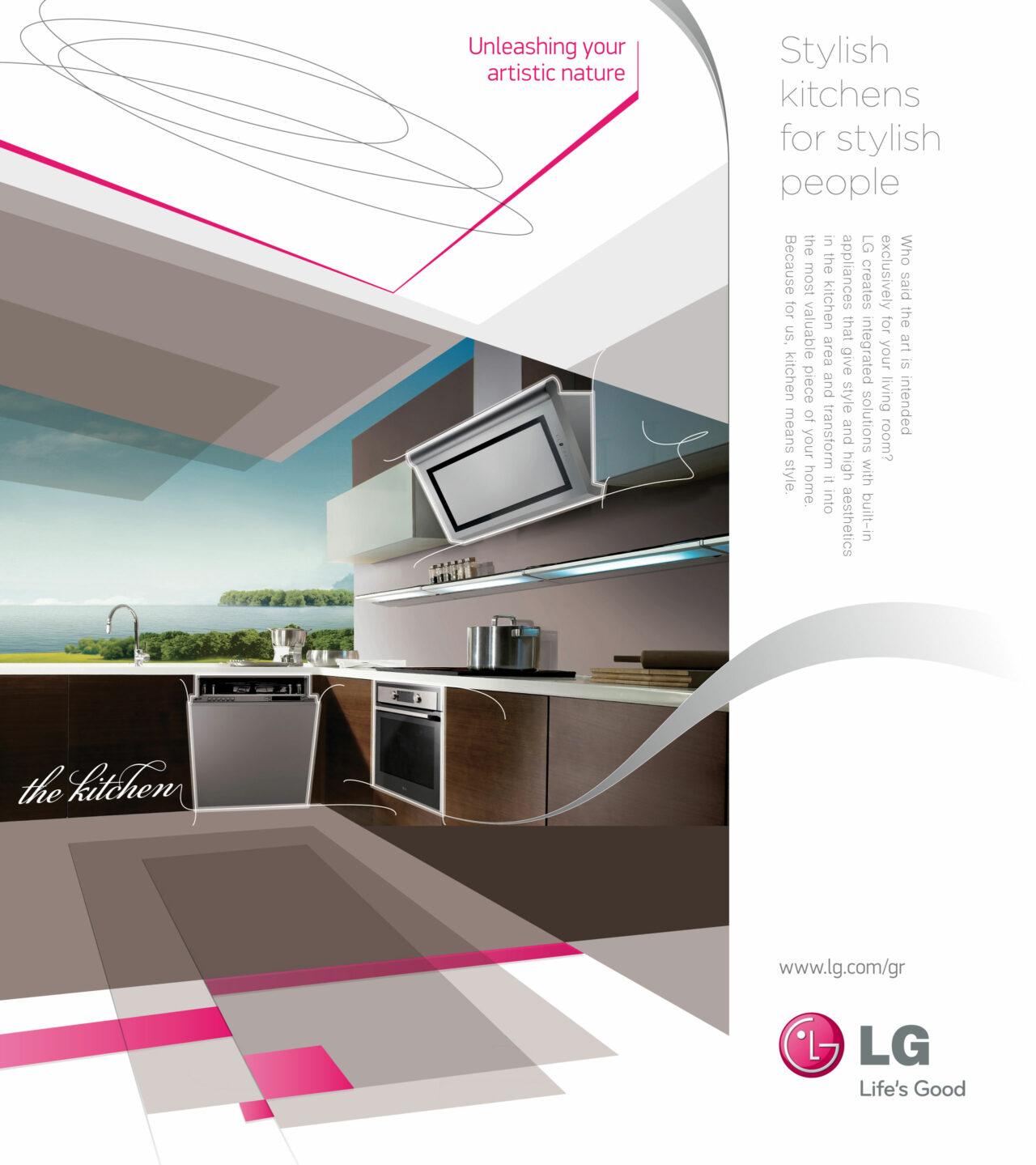 LG kitchen print ad design