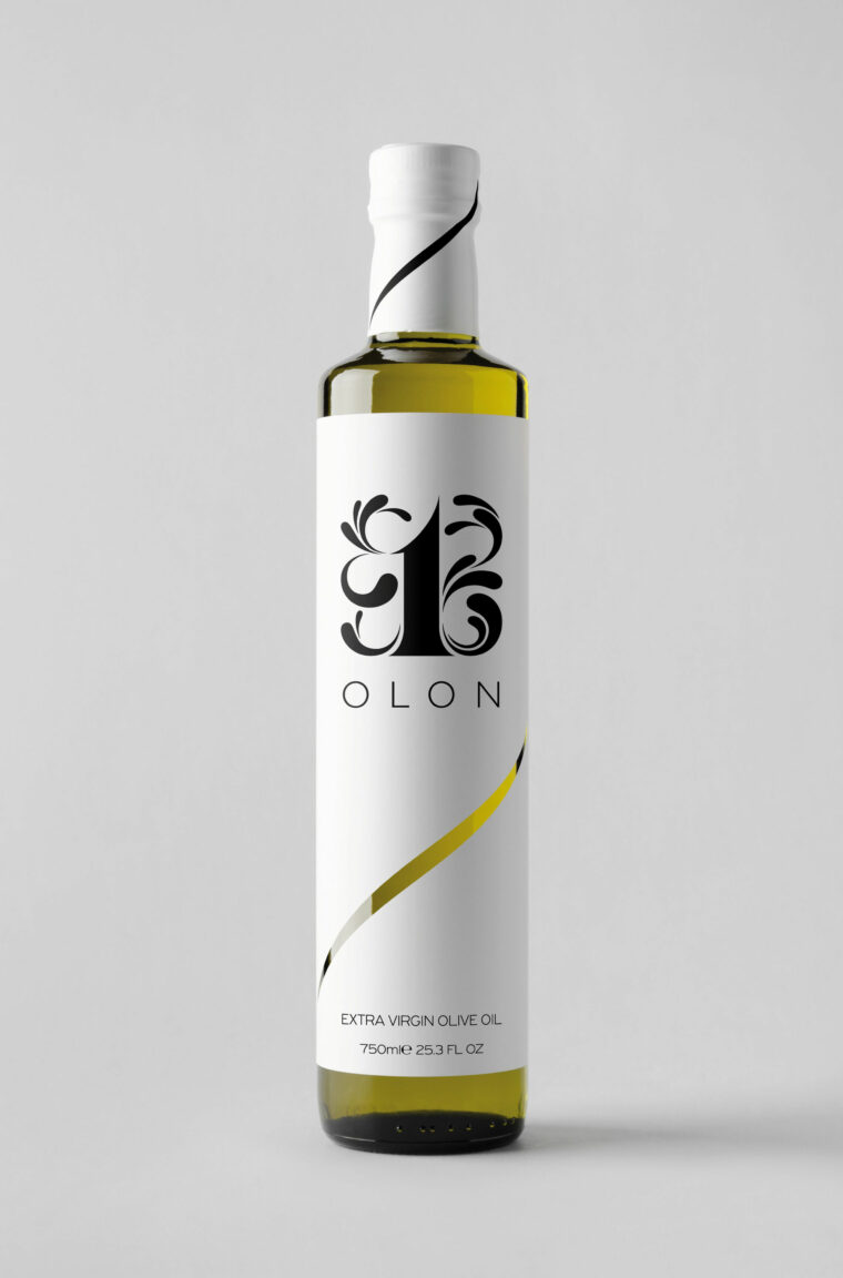 Extra virgin olive oil awarded branding and creative label design
