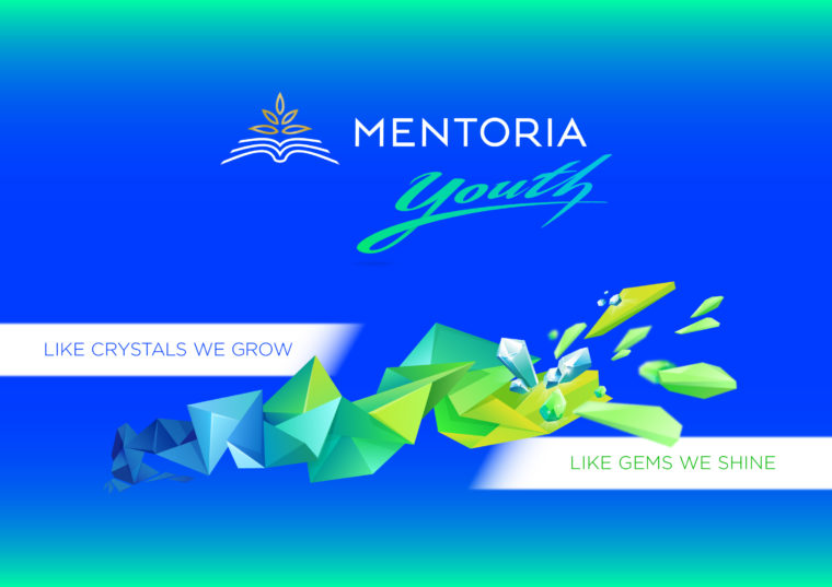 Mentoria Youth concept illustration on blue background